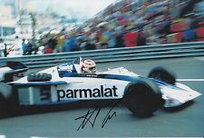 Nelson Piquet Hand Signed Parmalat Racing F1 12x8 Photo 3.