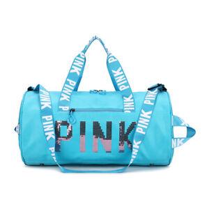 丨Pink Gym Duffle Bag Waterproof Large Sequins Bags Travel Duffel Bags with Shoes