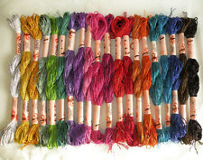Viscose Silk Solid Hand Embroidery Thread 20 Skeins Oasis New Collection