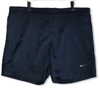 Vintage Nike Men's Size Large Dark Blue Swoosh Swim Suit Bathing Suit Trunks euc