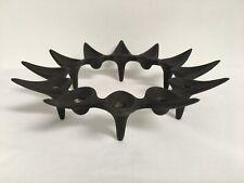 More details for vintage dansk design denmark jens quistgaard starcluster cast iron candle holder