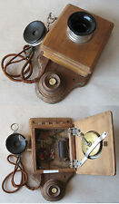 ANTIQUE GERMAN WALL TELEPHONE PHONE / WOODEN BOX / 1900-1910