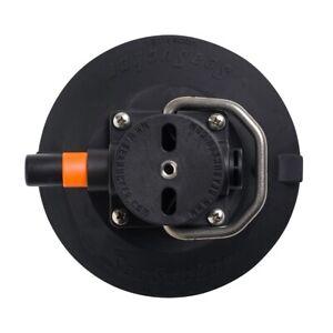 "SeaSucker 6"" Vacuum Mount with Stainless Handle - Black | Marine | SSR-VM1014"
