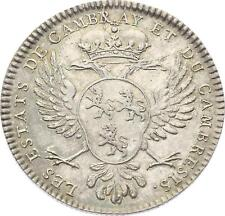 O3951 RARE R2 Jeton Louis XV Etats Cambrai Argent SPL ->Faire offre