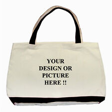 Personalized Custom Your Logo Design Photo Text Basic Tote Bag free shipping
