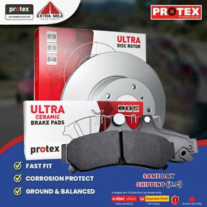 Rotors & Ceramic Brake Pad Set Rear For Skoda Octavia Superb Yeti 04 on