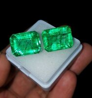 Loose Gemstones 7 to 9 Ct Pair Natural Emerald Certified