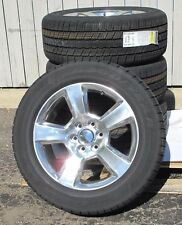 "20"" SILVERADO SUBURBAN TAHOE FACTORY STYLE POLISHED WHEELS 5652 GOODYEAR TIRES"