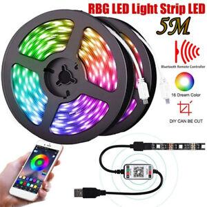5050 RGB LED STRIP USB Colour Changing Lighting TV PC Background LED Light Room