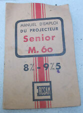 Projecteur Cersam Senior M 60 Manuel d'emploi