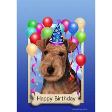 Lakeland Terrier Happy Birthday Flag