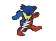 "Grateful Dead Dancing Lighting Bear Iron On Patch 3"" x 2.75"" Free Ship Licensed"