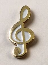 Metal Enamel Pin Badge Brooch Treble Clef Gold Musician Musical Music Player