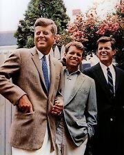 JOHN F. KENNEDY JFK & EDWARD & ROBERT BROTHERS USA PRESIDENT 8X10 PHOTO