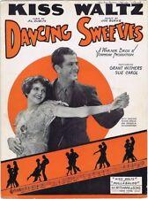 Kiss Waltz, from Dancing Sweeties, 1930 vintage movie sheet music