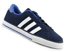 ADIDAS NEO MEN'S DAILY NAVY SUEDE  CASUAL SHOES. SIZE: 8 USA. NEW IN BOX!.