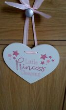 Little Princess Glitter Heart Hanging Plaque