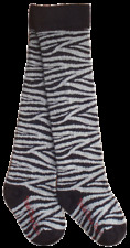 Pork Chop Kids Baby Legwarmers Knee High Socks Black/Grey Animal Print Sz 1-2 Yr