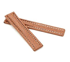 BOB Shark Leather Deployment Strap for Breitling, 20-24 mm, 7 colors, new!