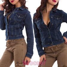 Giacca donna jeans giubbotto giacchetto giubbino avvitato sexy nuova AE-6673