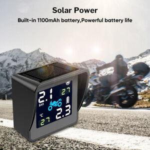 Moto TPMS Tire Pressure Monitoring Sensor Waterproof USB Alarm Solar Charging