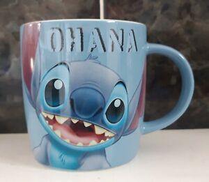 NEW Disney Lilo and STITCH Ohana Blue Ceramic Mug