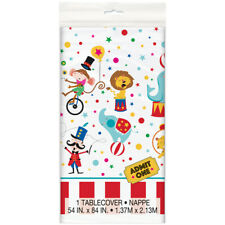 CIRCUS Carnival PLASTIC TABLE COVER ~ Birthday Party Supplies Decoration Cloth