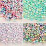 DIY Crafts Spacer Fishbowl Filler Rainbow Round ball Glitter Pearls Beads
