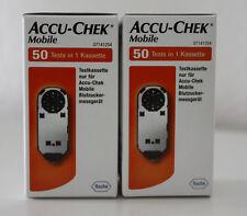 2 x 50 Tests Accu Chek Mobile NEU/OVP