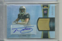 NICK TOON RC AUTO JERSEY #/1353 2012 TOPPS FINEST SAINTS BADGERS