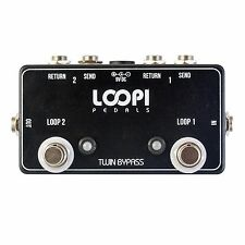 2 Effects Loop True Bypass Pedal - Dual/Twin Loops - Loopi Pedals