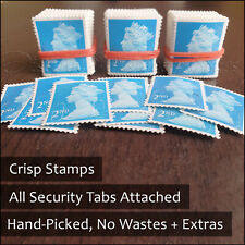 More details for 50 2nd class unfranked stamps second excellent quality no gum stamp bargain buy