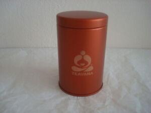 """New Teavana Empty Tea Tin No Tea Leaf in Orange 4"""" x 2.5"""""""