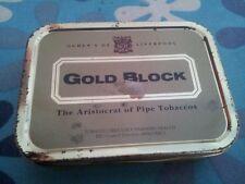 Scatola di latta porta tabacco Gold Block