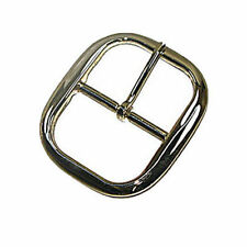 "Econo Center Bar Buckle - 2 Sizes - 4 Colors (1-1/2"", Nickel)"