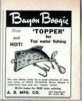 1957 Print Ad Bayou Boogie Topper Fishing Lures A.D. Mfg St Louis,MO