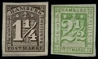 Germany(Hamburg>1864>Used, imperforate>Lithographic Print.