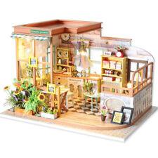 DIY Romantic Garden Miniature Dollhouse Wooden Furniture LED Kits Kid Puzzle Toy