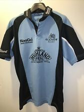 CLASSIC Glasgow RUGBY KOOGA JERSEY Blue SHIRT TOP MENS Size Small