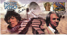 More details for doctor who logopolis classic episode stamp cover signed by tom baker
