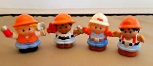 Fisher Price Little People Construction Workers Men Woman