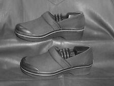 Dansko Vegan women's black fabric closed toe slip on pump clog shoes size EUR 37