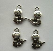 wholesale 30pcs alloy Tibetan silver Maomao worm charm pendant 16x12mm