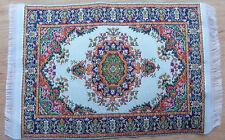 1:12 Scale 25cm x 14.5cm Woven Turkish Carpet Tumdee Dolls House Miniature P30m