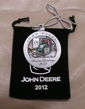 NEW ---- #17 in series --- 2012 John Deere Pewter Christmas Ornament
