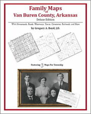 Family Maps Van Buren County Arkansas Genealogy AR Plat