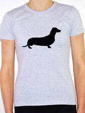 DACHSHUND SILHOUETTE - Dog / Animal / Pets /German/Novelty Themed Womens T-Shirt