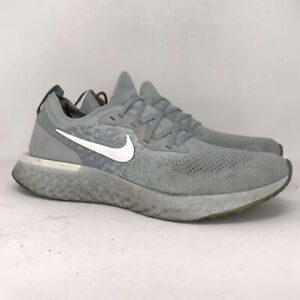 Nike Mens Epic React Flyknit AQ0067-002 Gray Running Shoes Lace Up Size 12.5