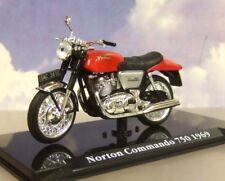 Excelente Atlas 1/24 de Metal Clásico Motos 1969 Norton Commando 750 en Rojo