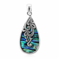 925 Sterling Silver Abalone Shell Unique Stylish Pendant Jewelry Gift for Women
